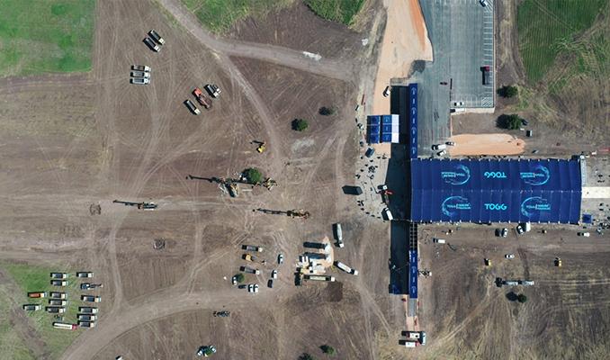 Türkiye'nin Otomobili'nin üretileceği alan havadan görüntülendi