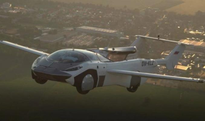 Uçan araba 35 dakikalık testi başarıyla tamamladı