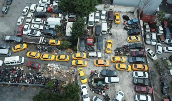Yediemin otoparkları taksilerle doldu