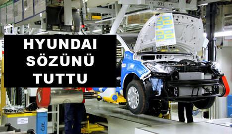 Hyundai verdiği sözü tuttu