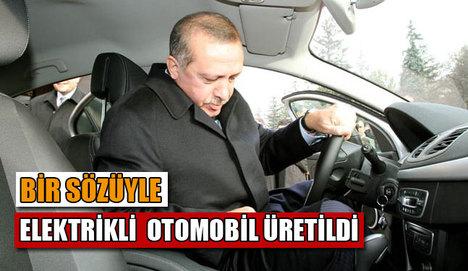 Başbakan tavsiyesiyle elektrikli otomobil üretildi
