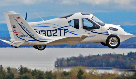 Dünyanın ilk uçan araba sistemi kuruluyor